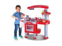 AGD dla dzieci KinderKraft Kuchnia deluxe czerwona KKKUDLXRED0000